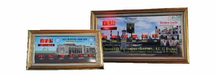 Jadwal Sholat Digital 5 Waktu dengan Frame