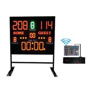scoring board stand indoor with wireless controller