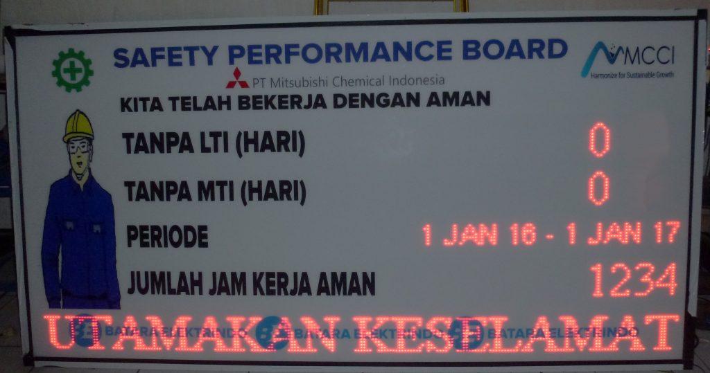 Jual Display HSE di Bogor untuk Keamanan dan Keselamatan Pabrik