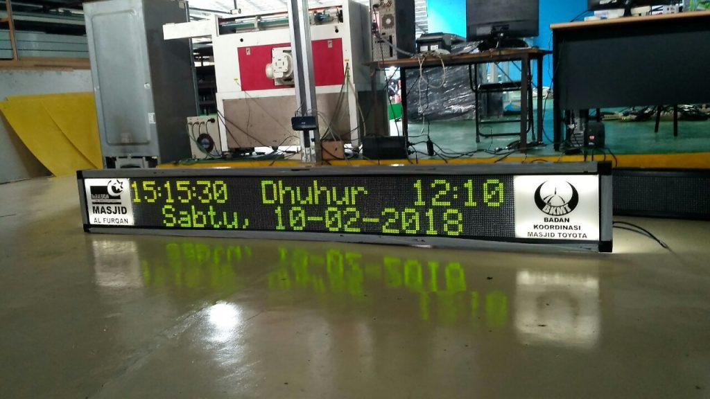Jual Running Text Jadwal Sholat di Bogor dengan Berbagai Ukuran
