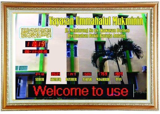 Harga Jam Dinding Digital Masjid di Tangerang Paling Murah